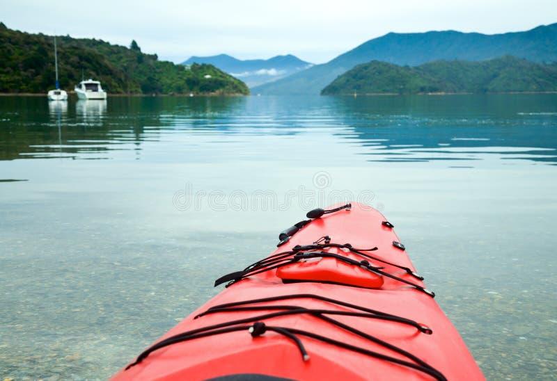 Kayaking in New Zealand royalty free stock photo