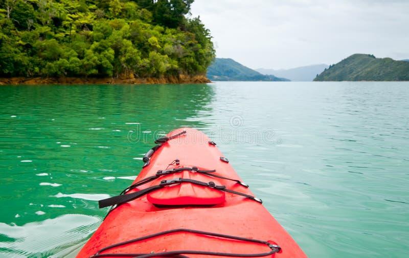 Kayaking in Nieuw Zeeland stock foto's