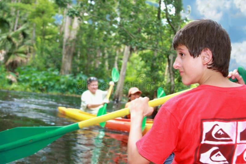 Download Kayaking no rio imagem de stock. Imagem de everglades - 10052679