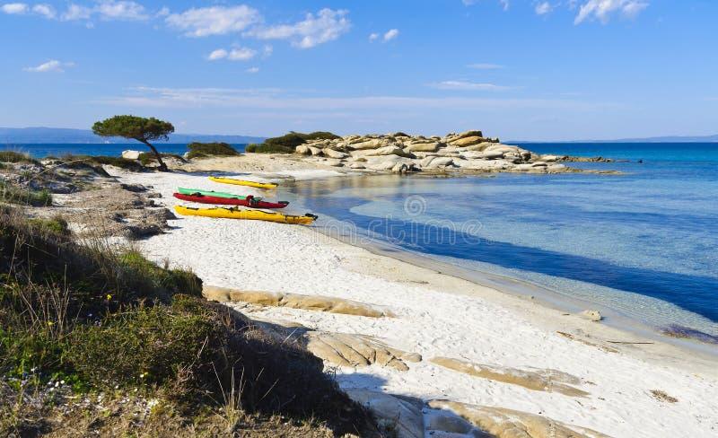 kayaking paradis för affärsföretag royaltyfri bild