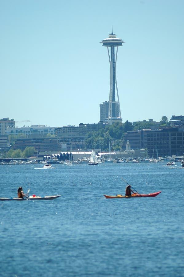 Download Kayaking in Puget Sound. stock image. Image of kayaking - 1715189