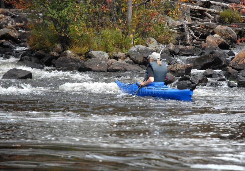 Kayaking The Rough Water Stock Photos