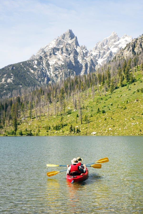 Kayaking Seniors royalty free stock photography