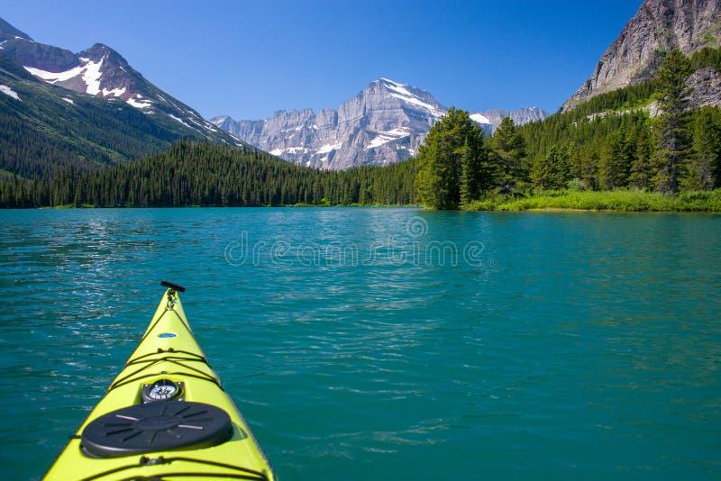 Kayaking, swiftcurrent lake royalty free stock photos