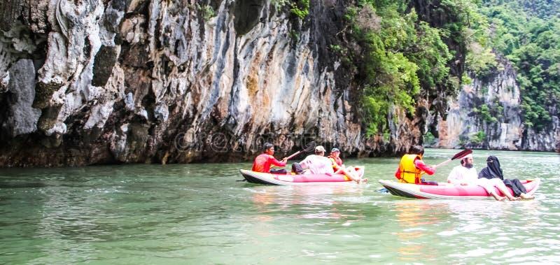 Kayaking w morzu obraz royalty free