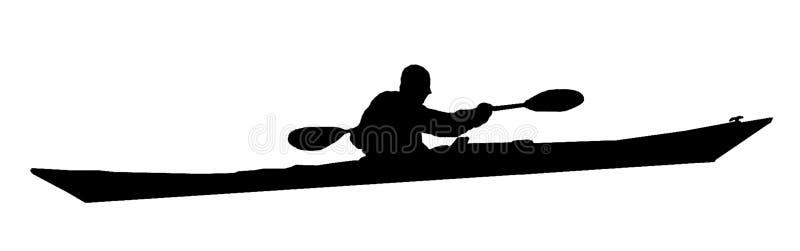 Kayakman stock abbildung