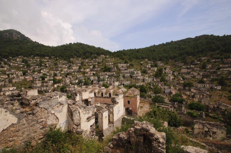 Kayakoy-Dorf lizenzfreies stockbild