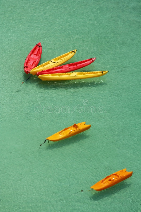 kayaks Гуама стоковые изображения rf