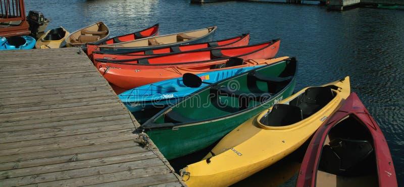 Kayaks и каня для ренты Онтарио Канады. стоковые фотографии rf