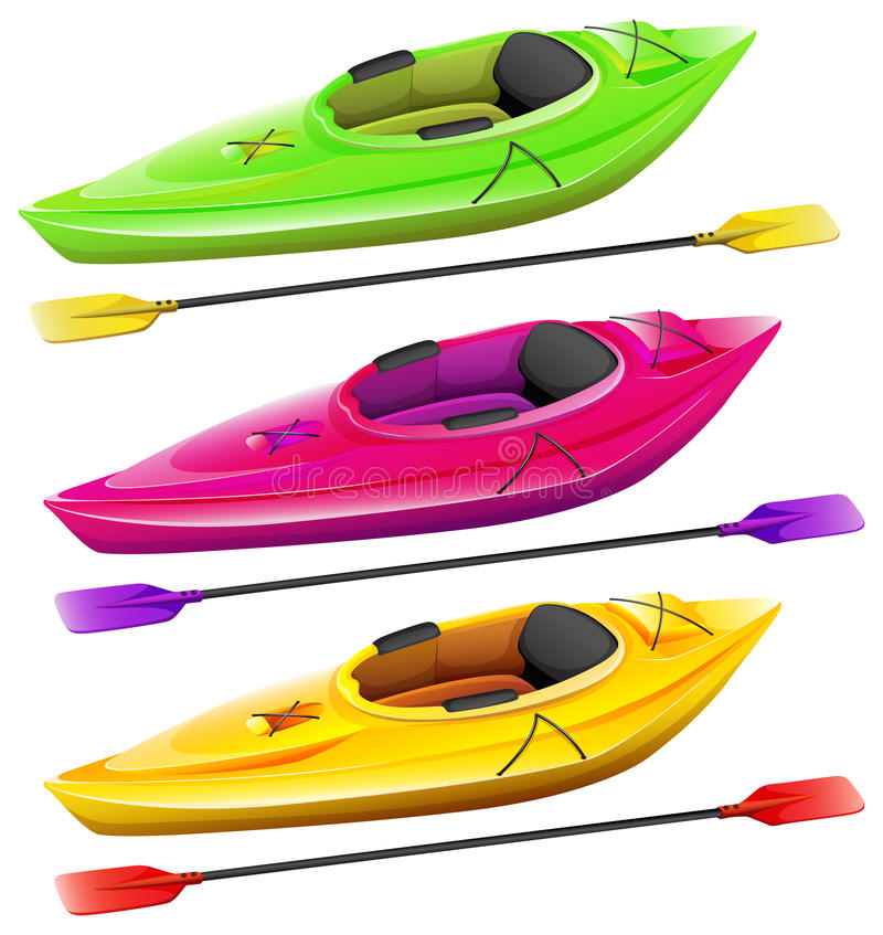 Kayaks illustration stock