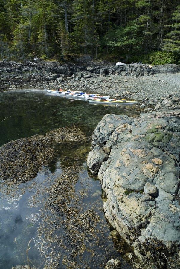 Kayaks At Beach Stock Photo