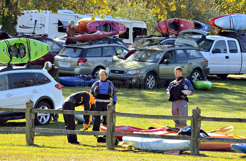 Kayaks at an Event royalty free stock photography