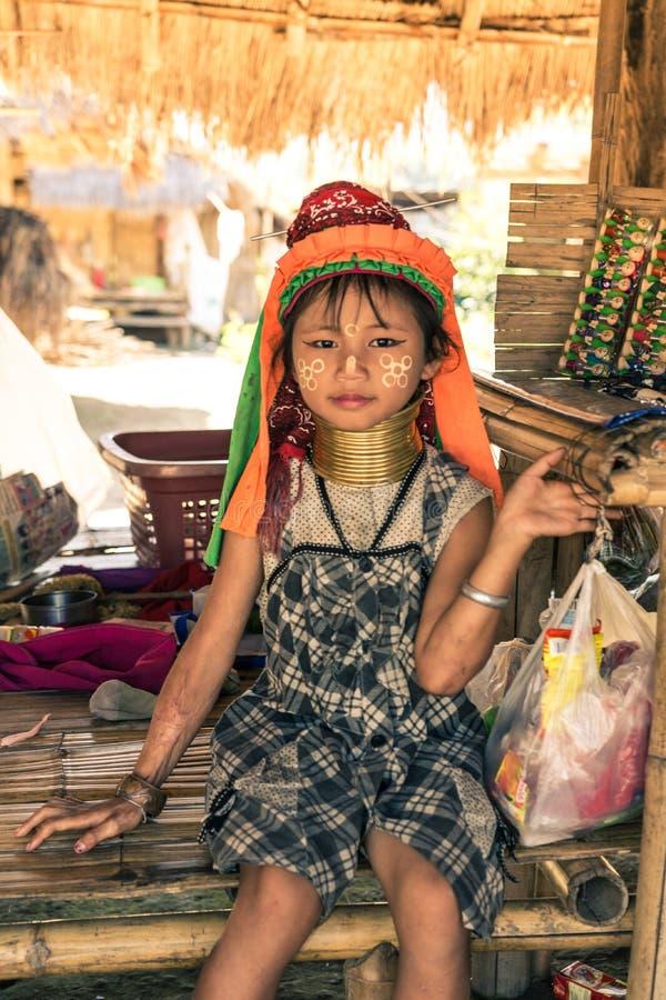 Kayan girl stock images
