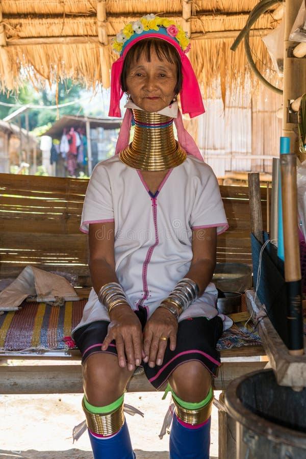 Kayan woman stock photos
