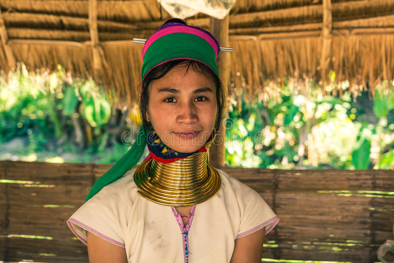 Kayan woman royalty free stock image