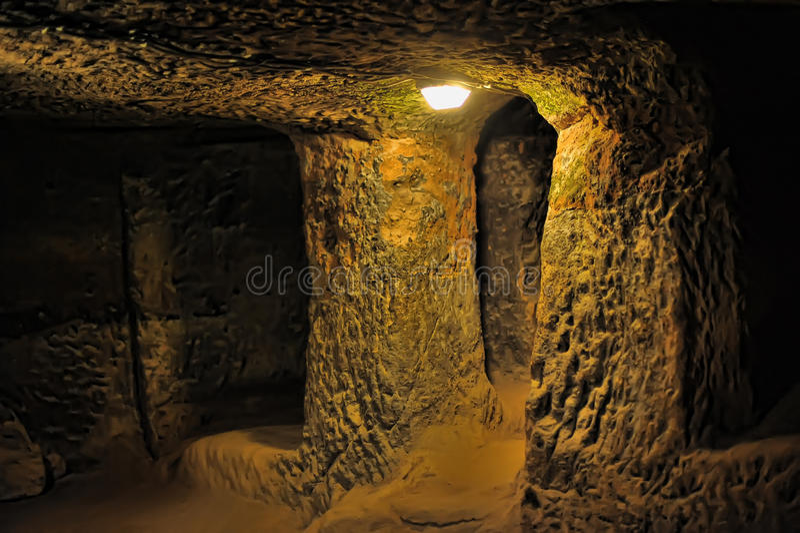 Kaymakli地下市 库存照片