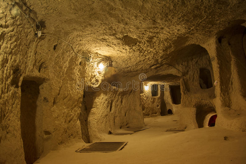 Kaymakli Ondergrondse Stad royalty-vrije stock afbeeldingen