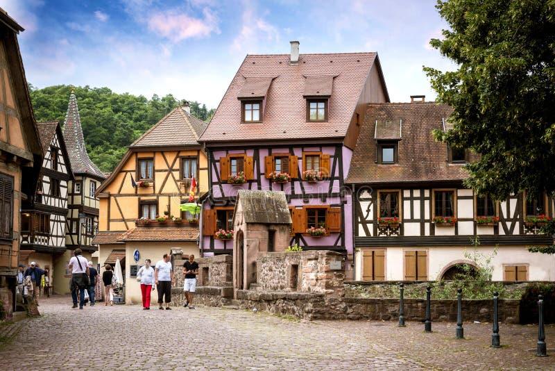 KAYSEREBERG :其中一个法国的最美丽的村庄,阿尔萨斯 图库摄影
