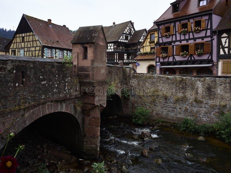 Kaysersberg в эльзасской Франции стоковые изображения