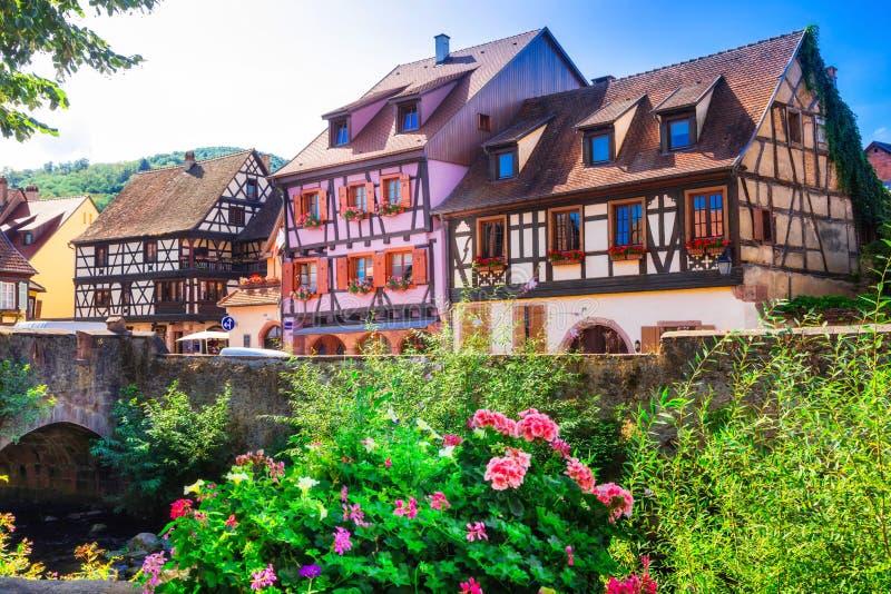 Kaysersberg- un des villages les plus beaux des Frances, Alsa image stock
