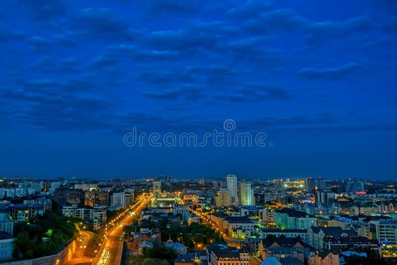 Kazán por noche imagenes de archivo