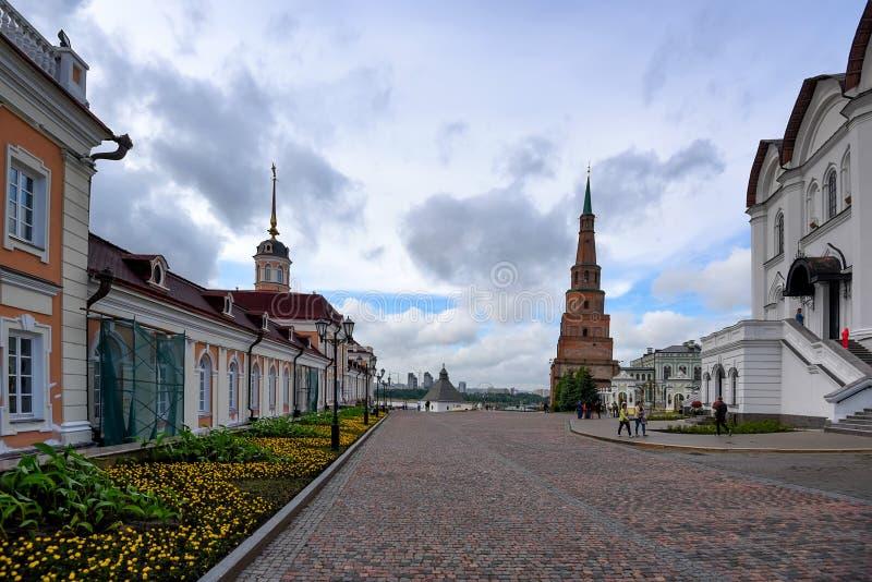 KAZÁN, RUSIA - 5 DE JUNIO DE 2016: Mezquita del ` s de Khan en Kazán el Kremlin, Rusia foto de archivo libre de regalías