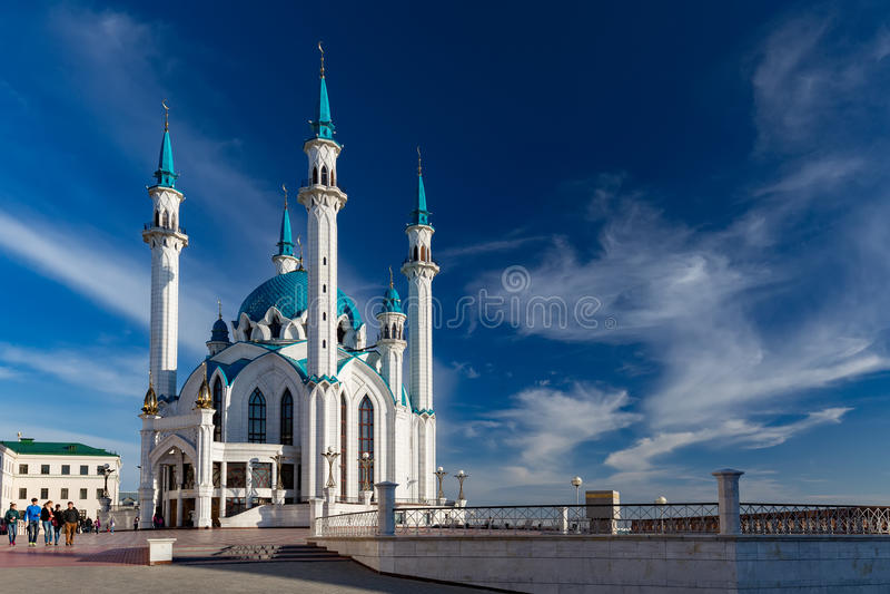 KAZÁN, RUSIA - 13 DE MAYO DE 2016: Kul Sharif (Qolsherif, Kol Sharif, fotografía de archivo libre de regalías