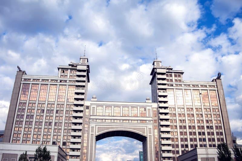 Kaz Munai Gas Building, 22 August 2018 Astana, Kasachstan, CEN lizenzfreies stockfoto