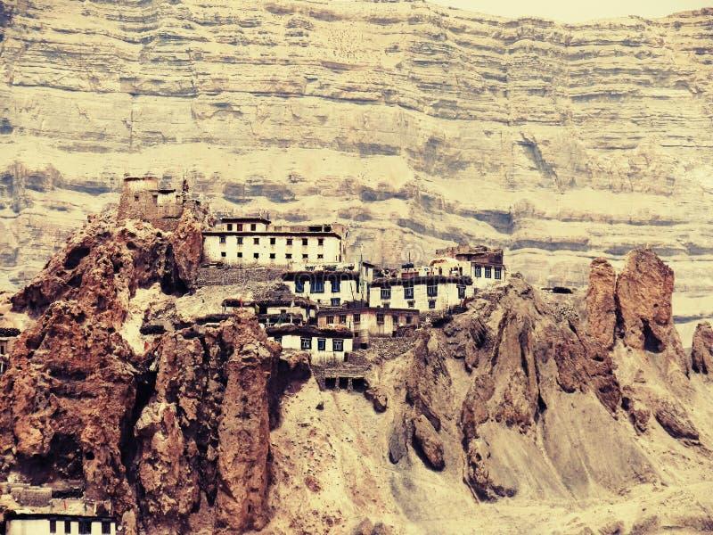 #Kaza del monasterio de Dhankhar fotografía de archivo libre de regalías