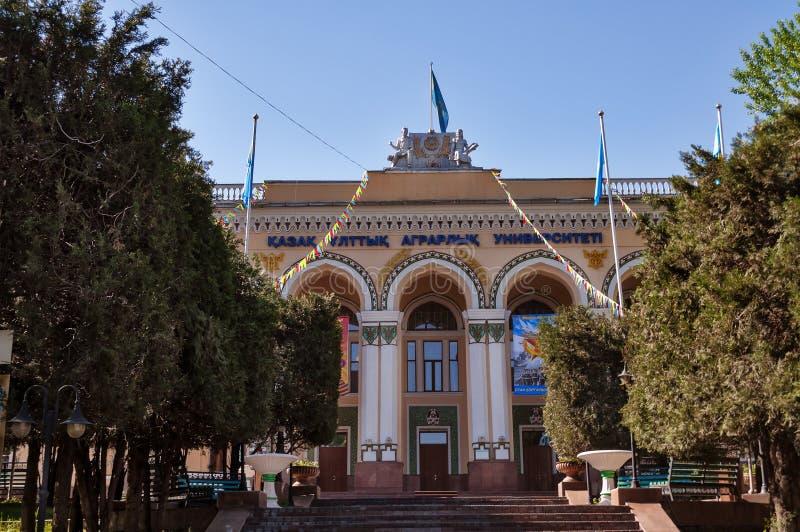 Kazach Krajowy Agrarny uniwersytet obrazy stock