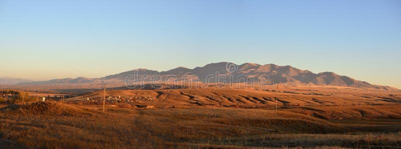 Kazach stepu krajobraz, Taldykorgan fotografia royalty free