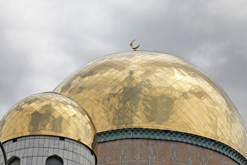 kazachstan almaty De centrale Moskee van Alma Ata royalty-vrije stock afbeelding