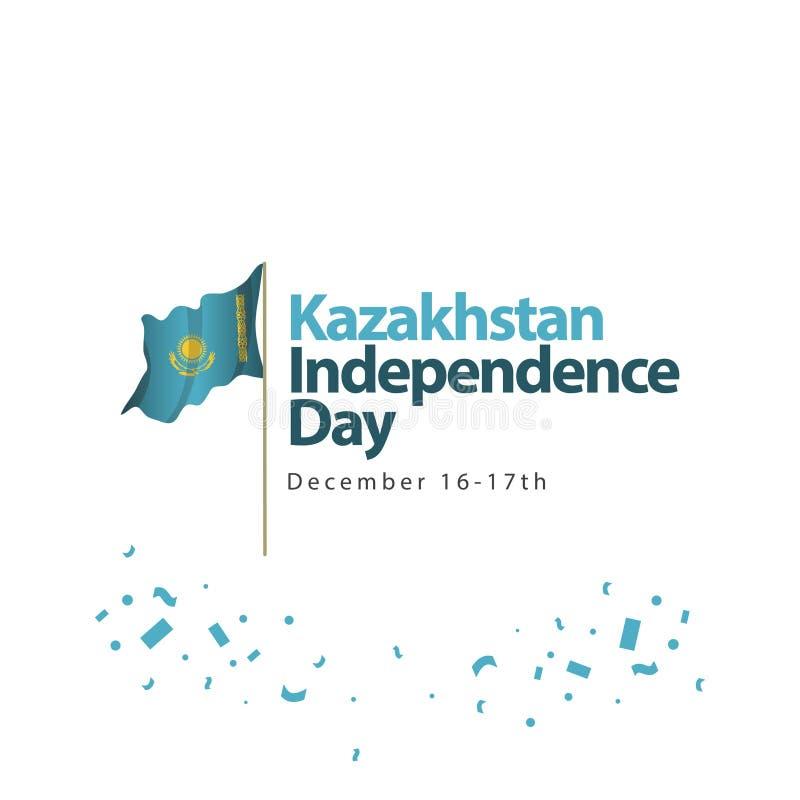 Kazachstan dnia niepodległości szablonu projekta Wektorowa ilustracja royalty ilustracja
