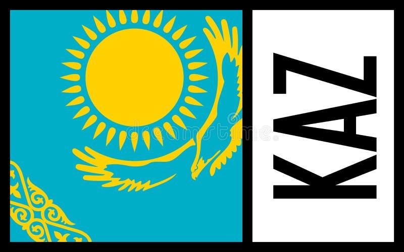 Kazachstan flaga - ikona obrazy stock