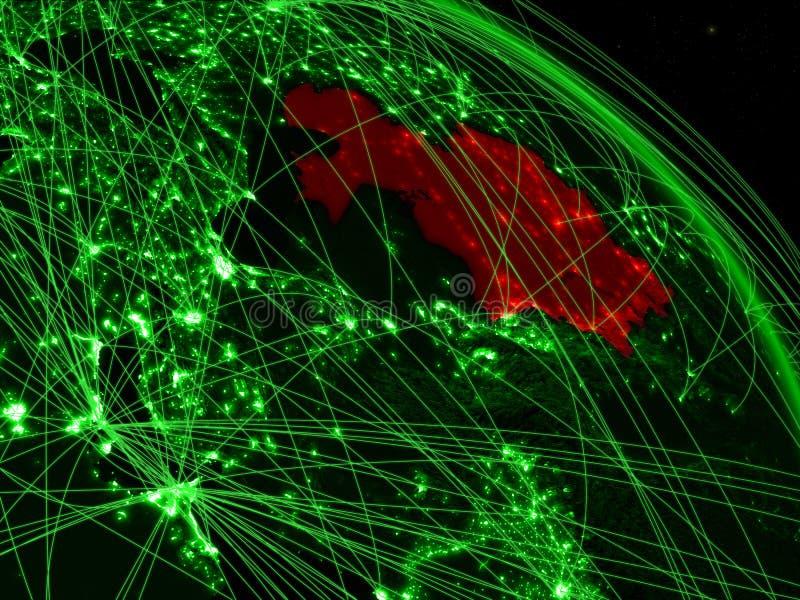Kazajistán en el globo verde libre illustration