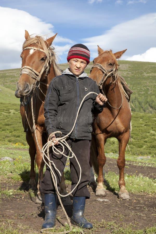 Kazakh boy stock photos