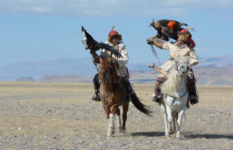 Kazakh Eagle Hunter 3 stock image