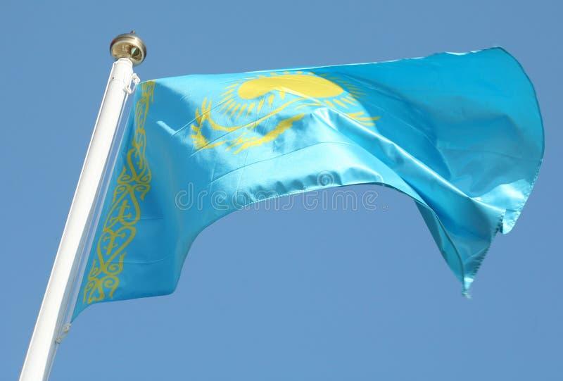 Kazakh vlag royalty-vrije stock afbeelding