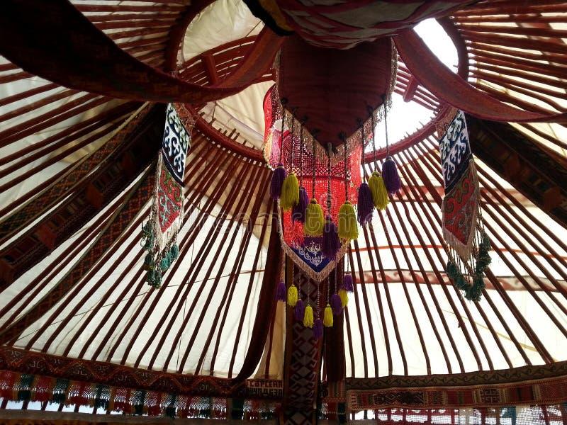 Kazakh yurt stock afbeeldingen