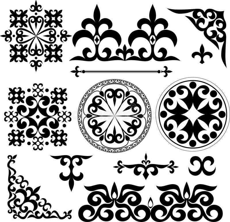 Kazakhmodeller royaltyfri illustrationer