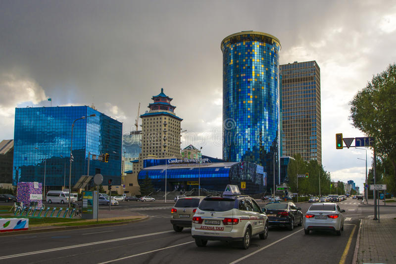 Kazakhstan. Astana. Business quarter in the city centre royalty free stock photography