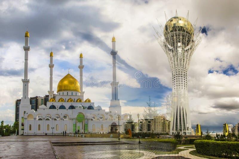 kazakhstan astana collage imagem de stock