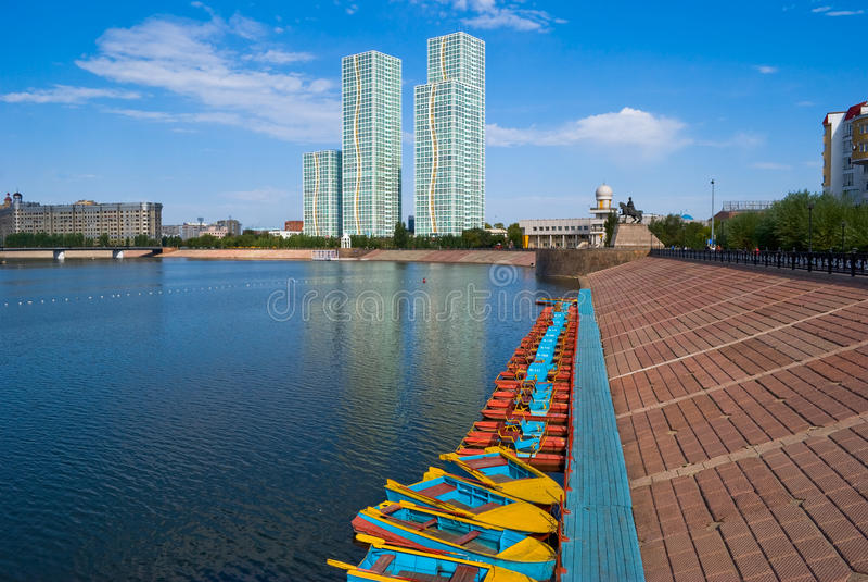 Download Kazakhstan. Astana. Damm. stockbild. Bild von fluß, kazakhstan - 26371887