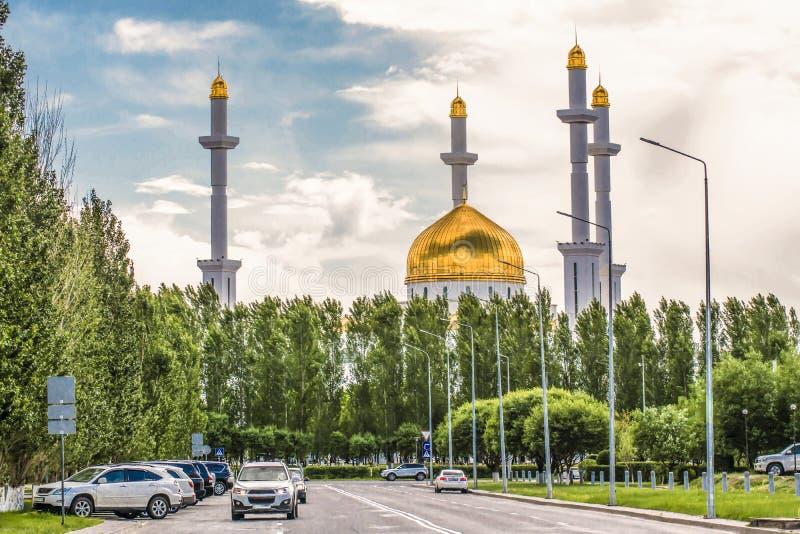 kazakhstan astana ` de Nur Astana de ` de mosquée photos libres de droits