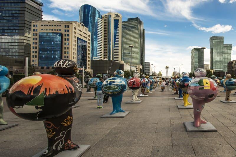 kazakhstan astana EXPO - 2017 royaltyfria foton