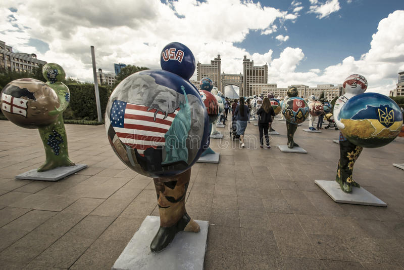 kazakhstan astana EXPO - 2017 au centre de la ville photo libre de droits