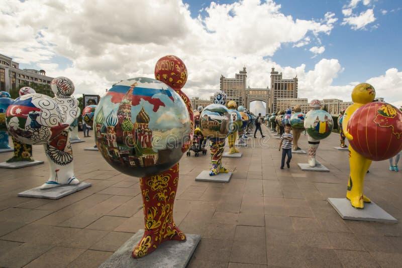 kazakhstan astana EXPO - 2017 i stadsmitten royaltyfri fotografi
