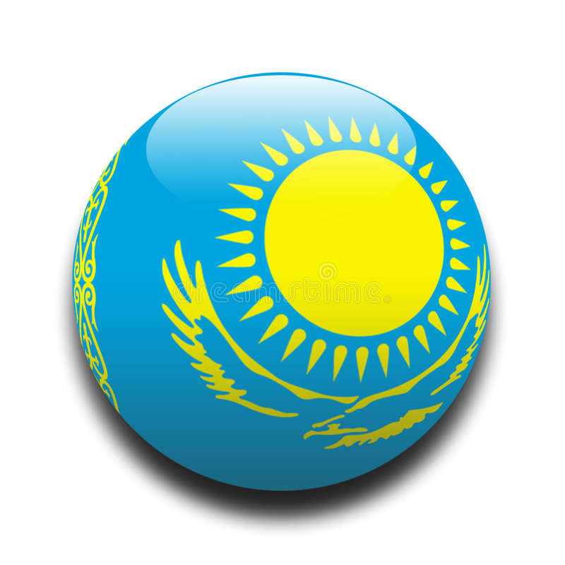 Kazakhstan Flag stock illustration