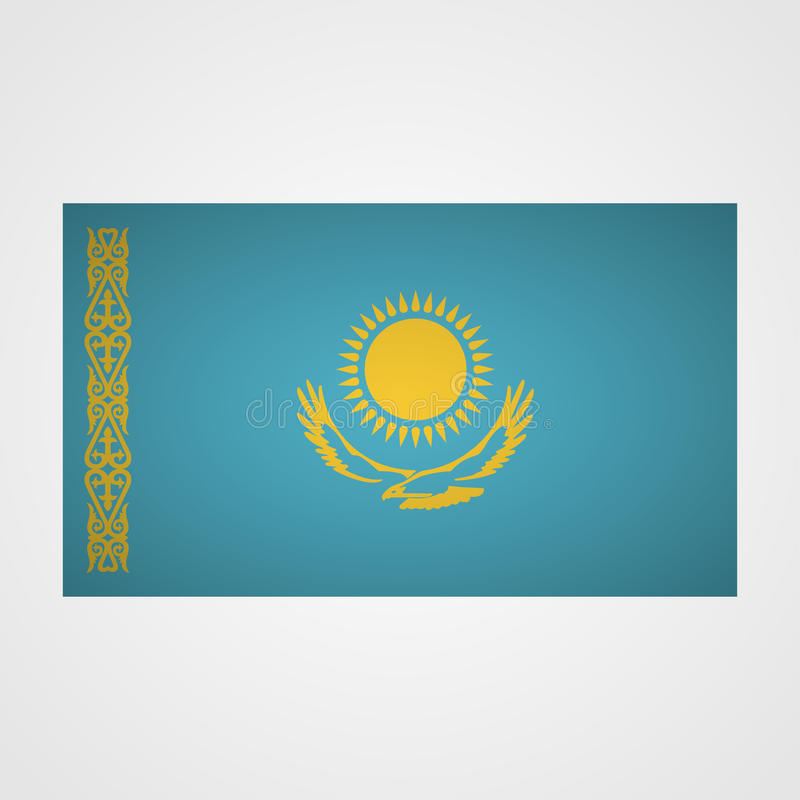Kazakhstan flag on a gray background. Vector illustration vector illustration