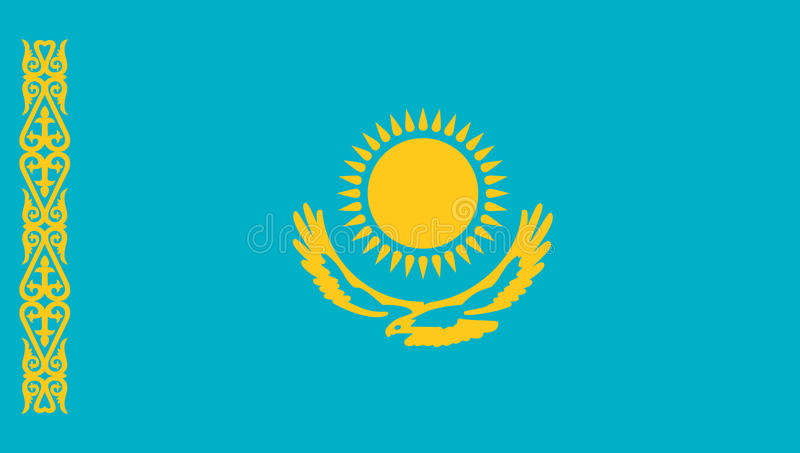 Kazakhstan flag icon vector illustration